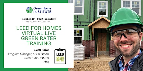 LEED for Homes Green Rater Training Live & Virtual tickets