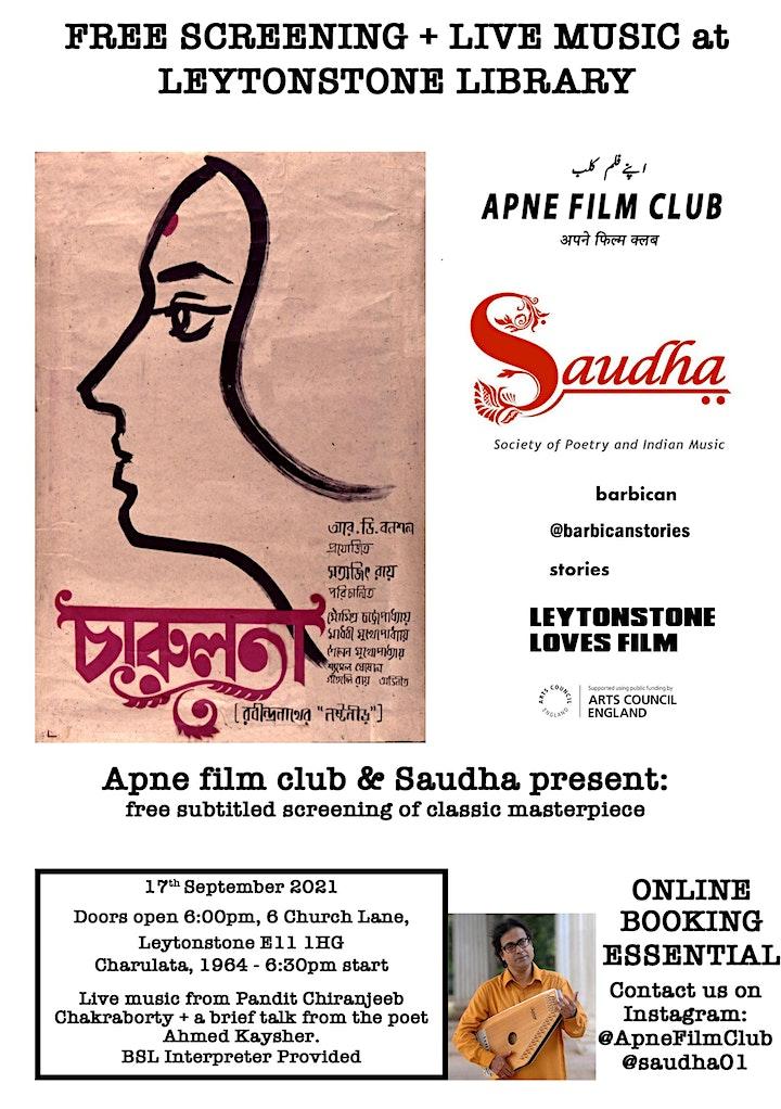 Apne Film Club and Saudha present: Charulata (1964) image