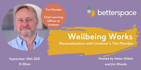 Wellbeing Works: Personalisation with Unilever's Tim Munden tickets