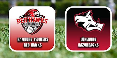 Gameday Hamburg Pioneers Red Hawks vs Lüneburg Razorbacks Tickets