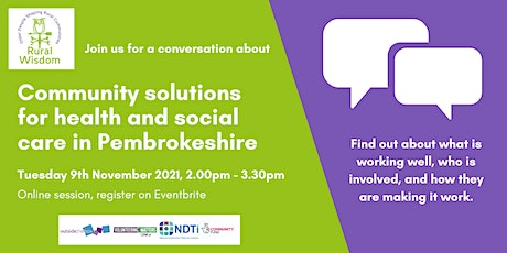 Community solutions for health and social care in Pembrokeshire tickets
