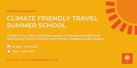 Climate Friendly Travel Summer School tickets