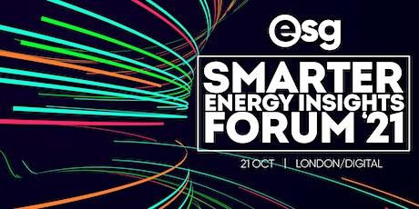 ESG - Smarter Energy Insights Forum | Digital tickets