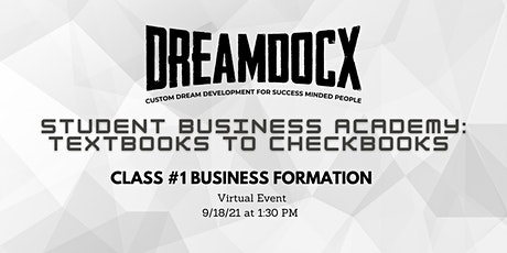 Virtual DreamDocX Student Business Academy tickets