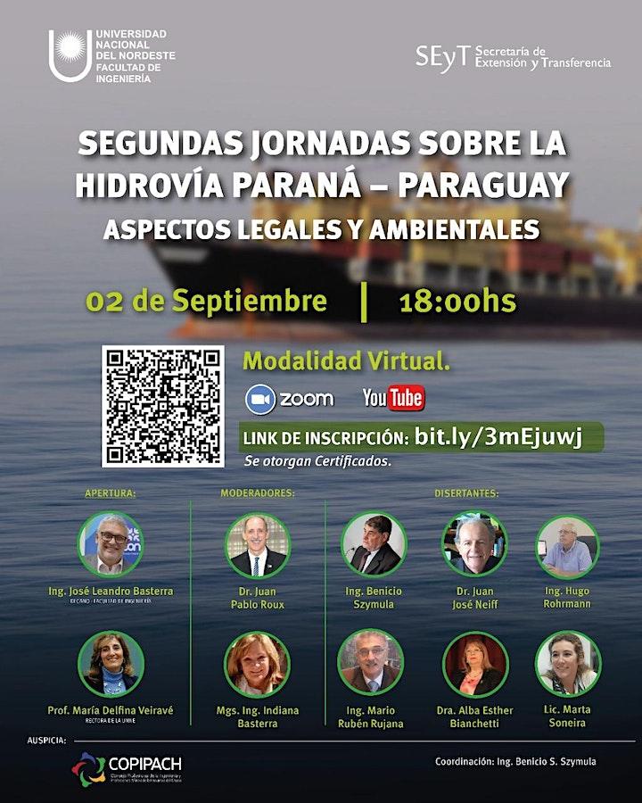 Imagen de 2DA JORNADAS DE HIDROVÍA PARANÁ - PARAGUAY. ASPECTOS LEGALES Y AMBIENTALES.