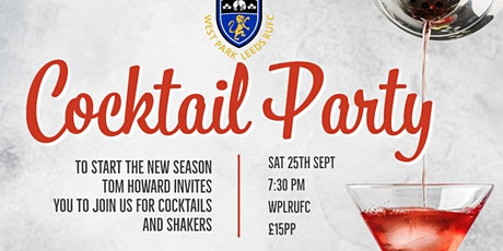 Cocktails & Shakers - Kicking off the new season for the whole club tickets