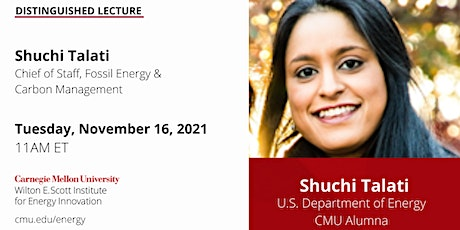 Distinguished Lecture - Shuchi Talati, U.S. Department of Energy tickets