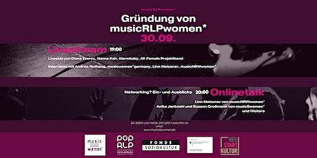 Gründung von musicRLPWomen* mit Livestream und Onlinetalk Tickets