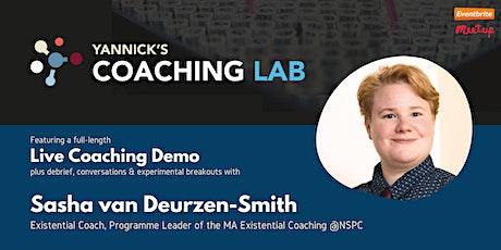 Yannick's Coaching Lab: Existential Coaching with  Sasha Van Deurzen-Smith tickets