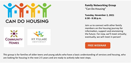 Family Networking Group - Can Do Housing  11/2/2021 tickets