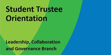 Student Trustee Orientation 2021 tickets
