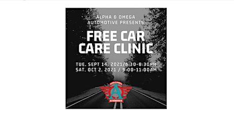 FREE Car Care Clinic (Marietta - Fall 2021) tickets