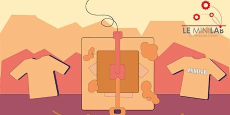 Atelier Minilab : Flocage, impression sur textile et broderie numérique billets