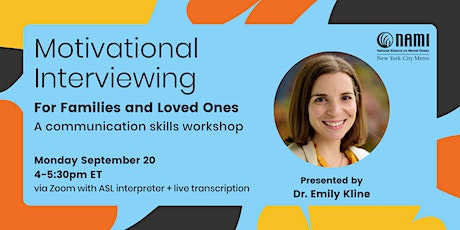 Motivational Interviewing for Families and Loved Ones tickets