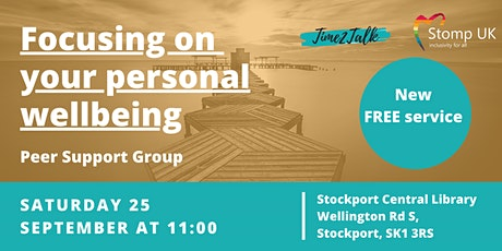 Focusing on your Personal Wellbeing - Peer Support Group tickets