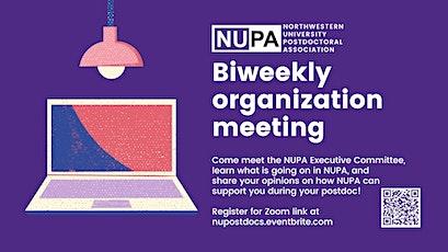 NUPA Organization Meeting tickets