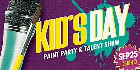 Kids Paint & Talent Show entradas