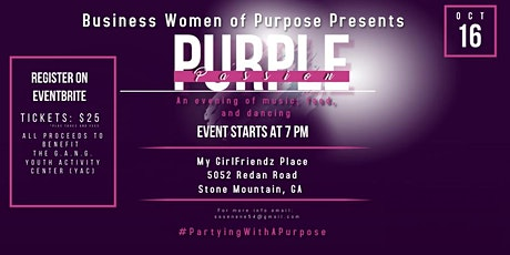"""Business Women of Purpose Presents """"Purple Passion: An Evening Out"""" tickets"""