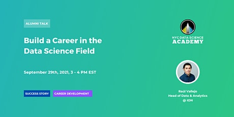 Build a Career in the Data Science Field tickets