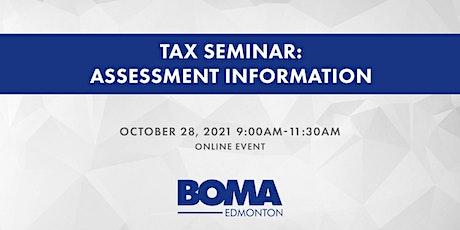 Tax Seminar: Assessment Information tickets