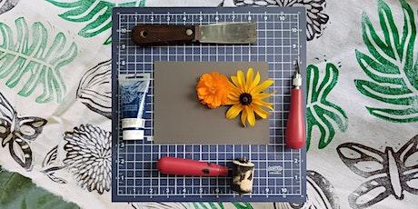 Botanical Relief Printing - Virtual Art Class tickets