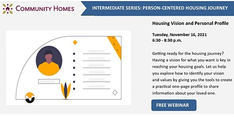 Housing Vision and Personal Profile 11/16/21 tickets