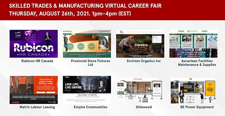 Industrial Management Virtual Job Fair - August 26th image