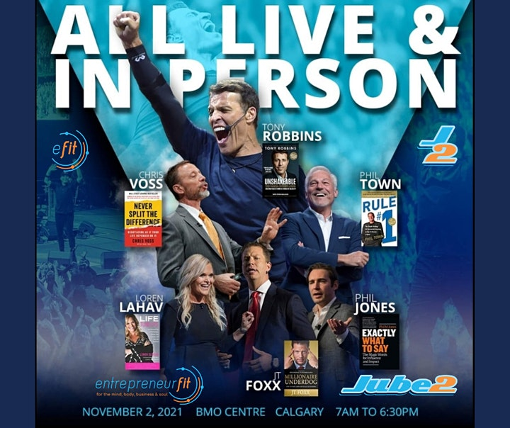 Tony Robbins & Friends LIVE in YYC - DISCOUNT & TI image