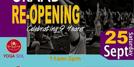 Yoga Sol Grand Re-Opening Anniversary & Fundraiser w/ 108 Sun Salutations tickets
