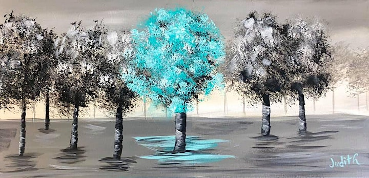 Paint Night in Rockland - Glowing trees at G.A.B.'s image