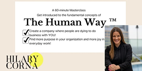 A 60-minute Masterclass: The Human Way ™ tickets