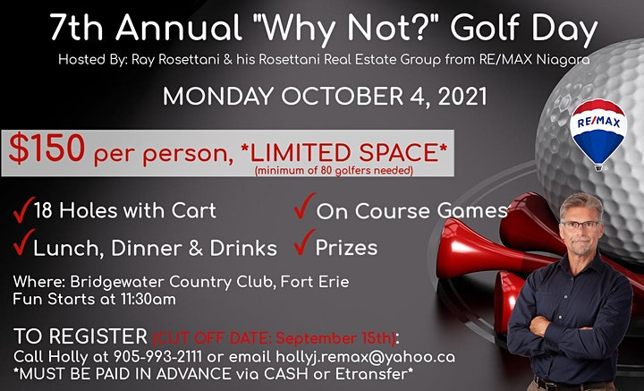 """7th Annual """"Why Not?"""" Golf Day image"""