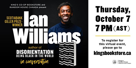 Disorientation - Ian Williams in conversation with Sylvia Hamilton tickets