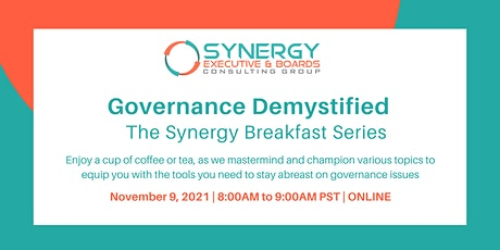 Governance Demystified - The Synergy Breakfast Series tickets