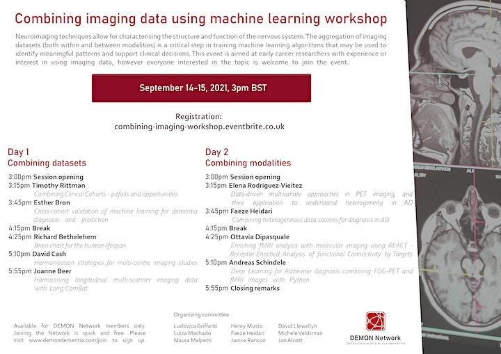 Combining imaging data using machine learning workshop image