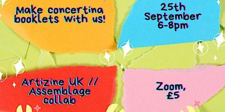'Make Concertina Booklets with Us!' Digital Workshop tickets