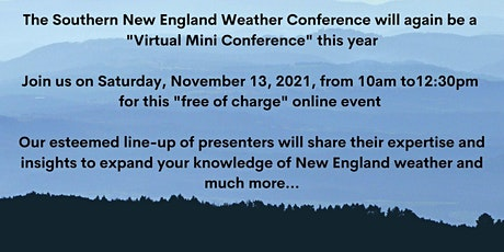 Southern New England Weather Conference 2021 tickets