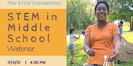 STEM in Middle School Webinar tickets