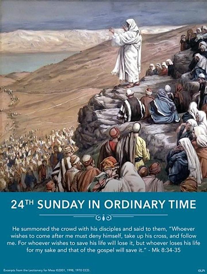 Mass, 11am, Sunday, September 12th image