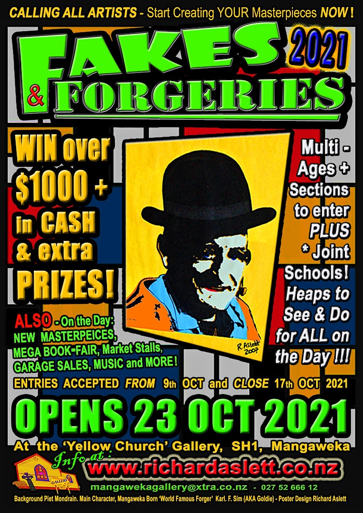 The Great New Zealand/Aotearoa Fakes & Forgeries Exhibition & Festival 2021 image