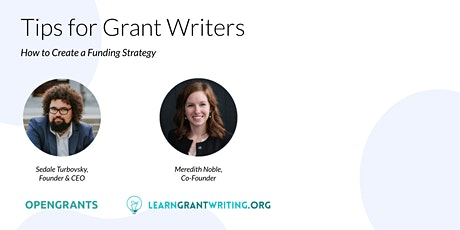 Tips for Grant Writers - How to Create a Funding Strategy tickets