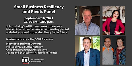 Small Business Week Roundtable Panel - Resiliency and Pivots tickets