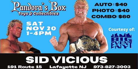 Sid Vicious Meet & Greet at Pandora's Box Toys & Collectibles tickets