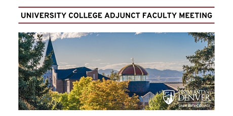 University College Adjunct Faculty Meeting and Reception tickets