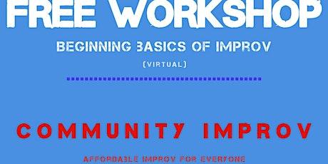 Online Improv Workshop - FREE tickets
