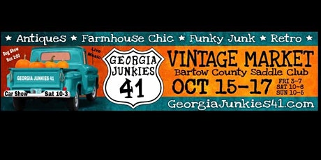 Georgia Junkies 41 Fall Vintage Market tickets
