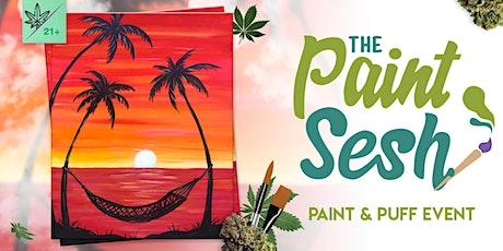 "Online Painting Class – ""Beach Hangout"" (Virtual Paint & Puff Night @ Home) tickets"