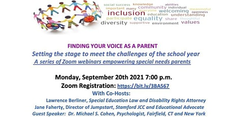 Finding Your Voice as a Parent: Back-to-School Special Education Webinar tickets