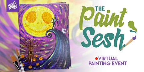 """Online Painting Class – """"This is Halloween"""" (Virtual Paint at Home Event) tickets"""