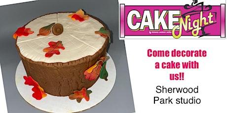 CakeNight - Sherwood Park Studio - Thanksgiving Fall Stump tickets